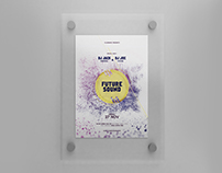 Free Frosted Glass Flyer Mock-Up