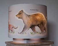The animal lamp (The fox goes out for a walk)