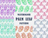 Watercolour Palm Leaf Patterns