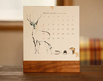 Jun Sasaki Desk Calendar 2016