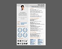 Théo SAUZON 2019 Graphic Design CV RESUME