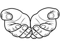 Hands vector art