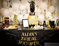Event Decor (Great Gatsby Bridal Shower)