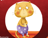 Angry cat has a tummy ache ::: educational picture book
