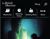 British Museum mobile UI: Accessible redesign (concept)