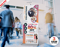 Fashion Sale Roll Up Banner PSD