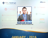 TPL Holdings Employee of the month post