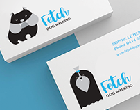 Fetch Dog Walking Branding