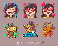 Sugarmellie - Twitch Emotes