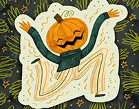 Happy Pumpkin Boy