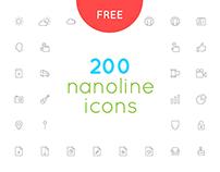 Free download nanoline icons