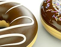 Donnuts Cinema 4D + Octane Render