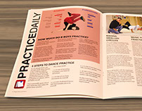 Dance Newsletter Design