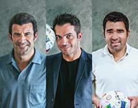 Figo, Falcao & Deco for Premier Futsal 2017, Dubai