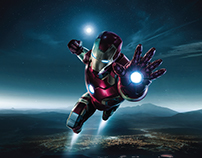 IRONMAN Fan art compositing with cosplay