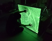 Sponge screen - Interactive projection mapping