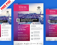 Transportation Flyer Free PSD