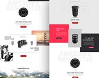 Lens landing page design