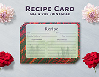 Free Artistic Recipe Card Template V1