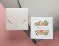 Thank You Card - 'Blooming Bouquet'