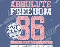 absolute freedom graphic tees vector art
