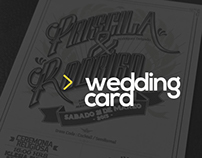 Wedding Card - Priscila & Rodrigo -