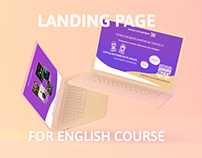 Landing p for English course