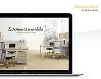 Muebles Korol - Diseño Web