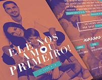 Flyer Evangelização Mais de Cristo