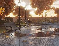 public gardens in the fall