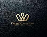 Free Leather PSD Logo Mockup