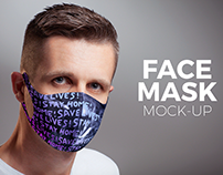 Face Mask Mock-up Template