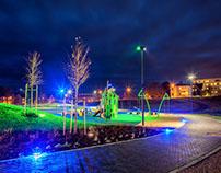 Levanger Stadium Park Lighting design
