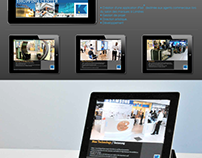 iPad application / MAPIC exhibit