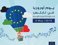 Poster Europe Day in Nablus