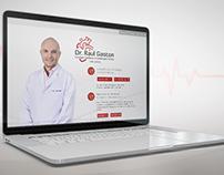 Logo e Landing Page - Dr. Raul Gaston