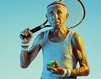 Old tennis player