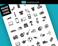 47 Online store icons