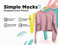 Cropped Crew Fleece Mockup