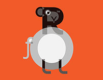 Year of the Sheep, Typographic Illustration