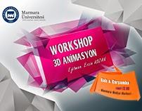 Workshop 3D Animasyon in Marmara Medya Merkezi