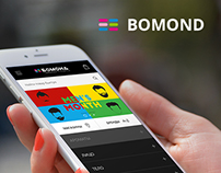 Mobile app for Bomond store