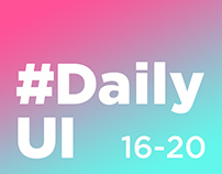 DailyUI 16-20