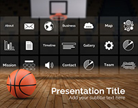 Basketball Infographic Presentation Template