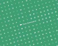 Free Font Awesome Library Sketch Resource
