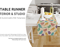 Table Runner Interior and Studio Set