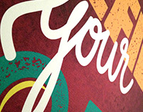 Rocket Burger Illustrations + lettering
