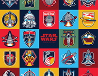 STAR WARS space patches