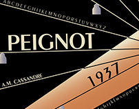 Peignot Typeface Poster