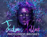 Jackson Pollock Photoshop Brushes